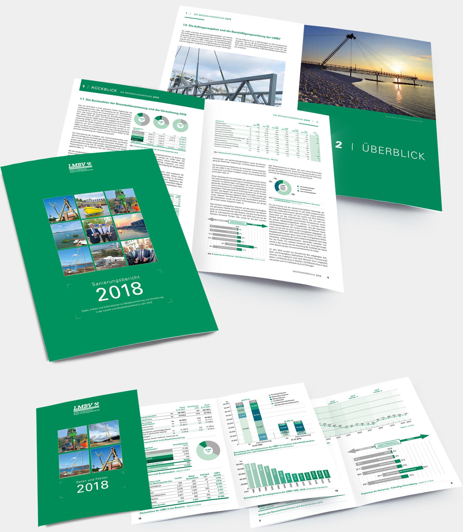 LMBV Sanierungsbericht und Daten und Fakten 2018