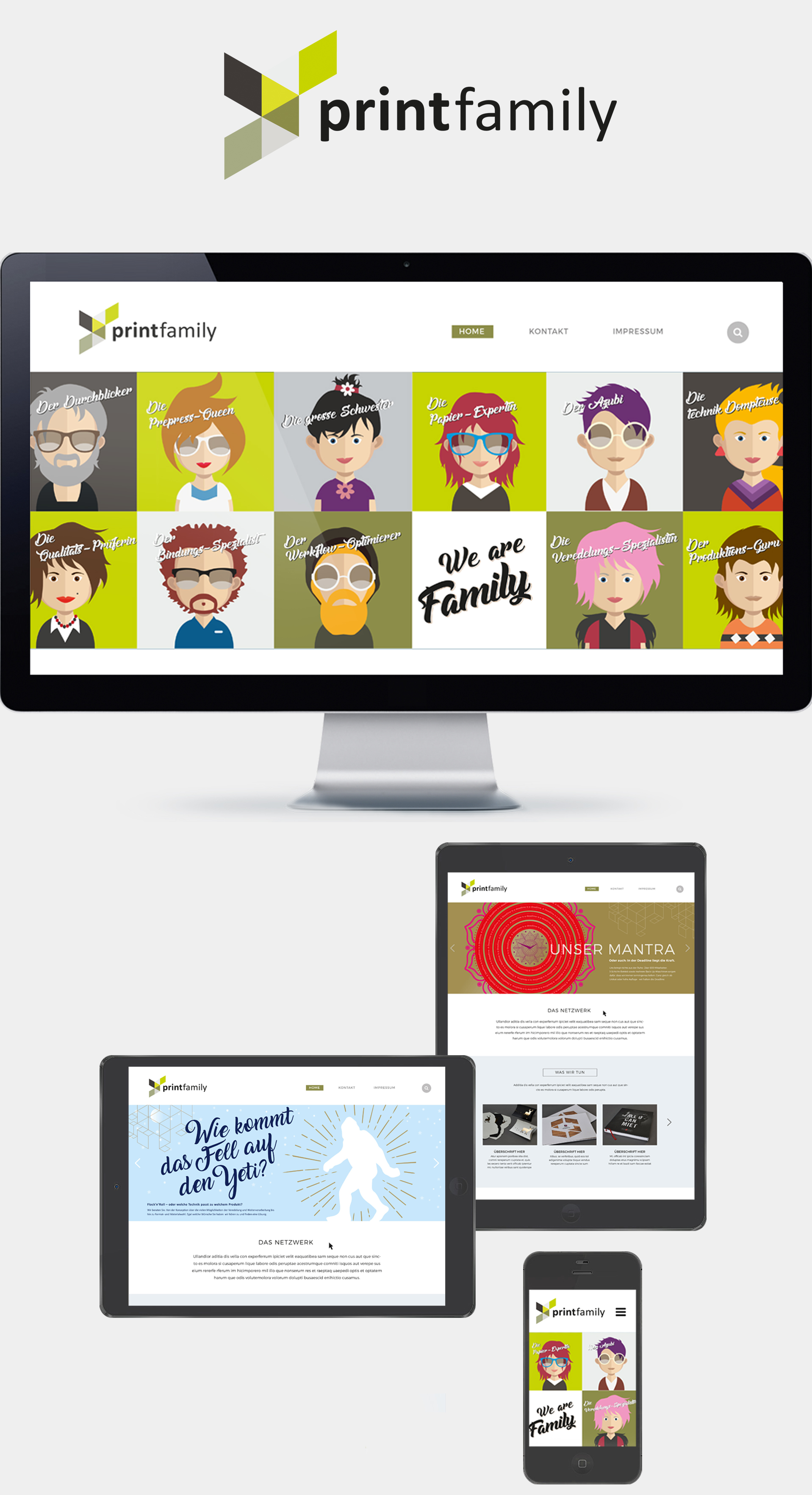 Webseite Printfamily