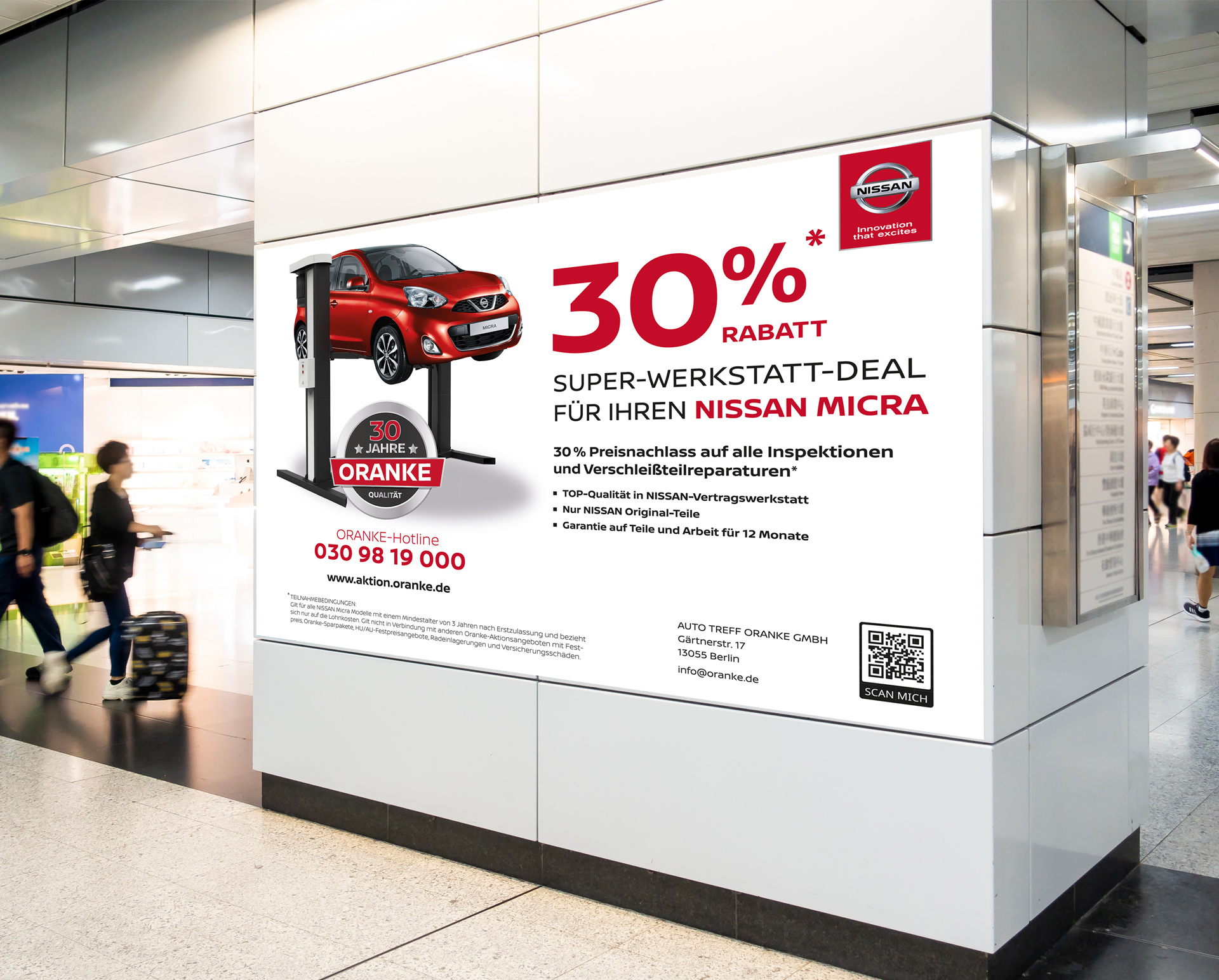 Referenz agreement - NISSAN Micra Kampagne Oranke
