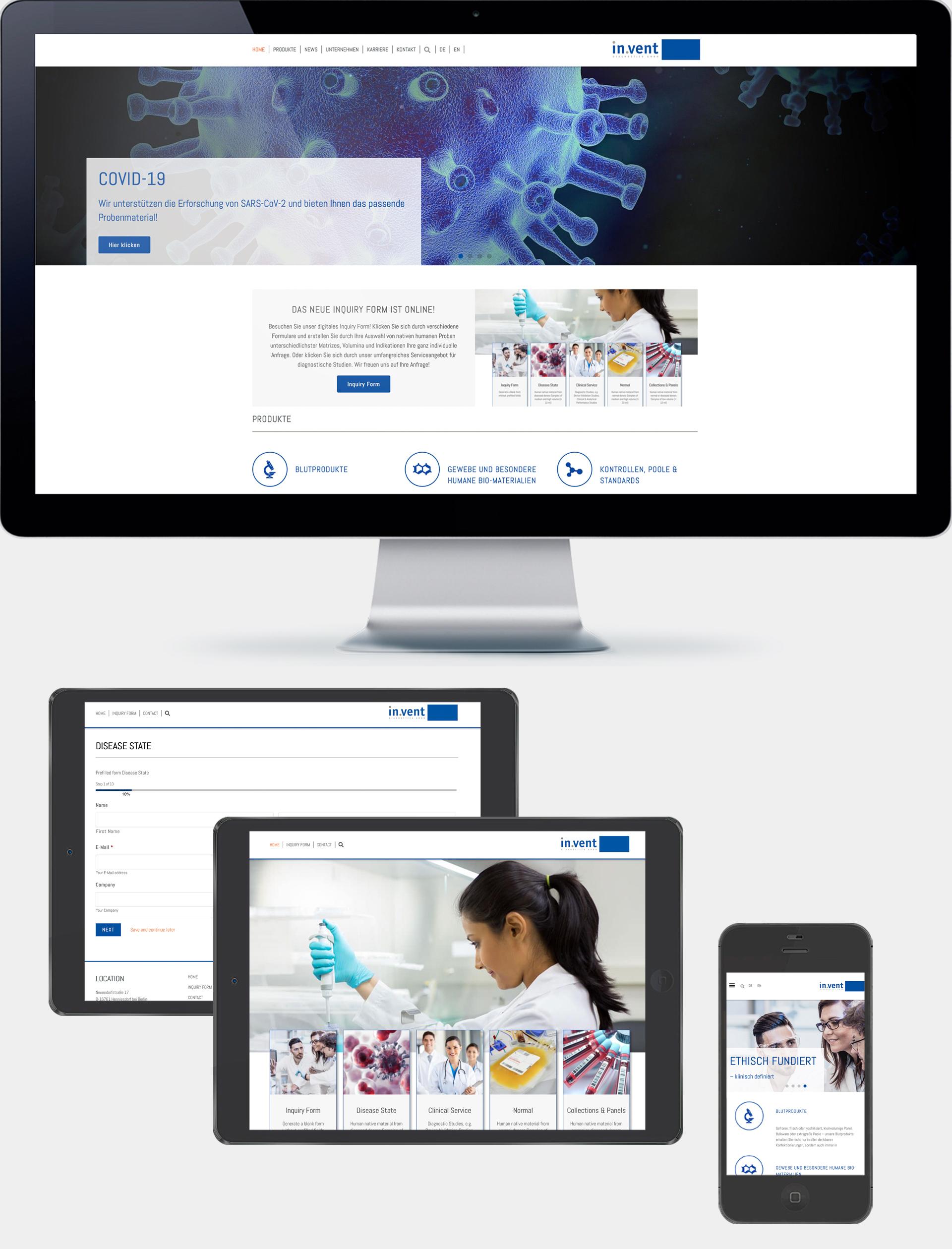 Referenz agreement - Website in.vent Diagnostica